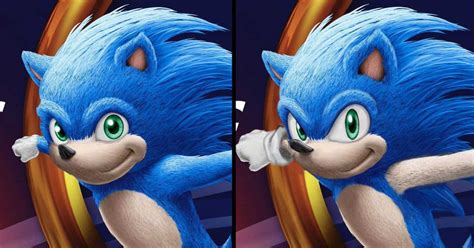Sonic the Hedgehog's live-action movie look, redesigned