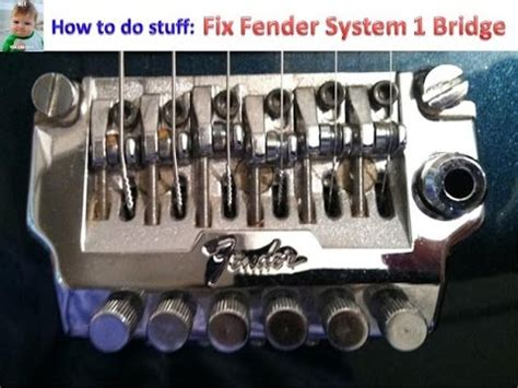 How to Fix Fender System 1 Bridge Fine Tuners - Kahler and