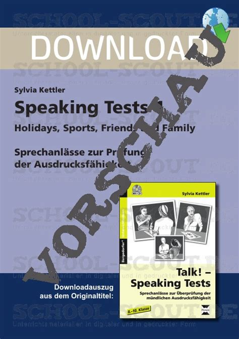 Speaking Tests 1: Holidays, Sports, Friends and Family