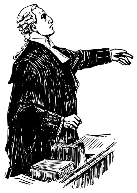 OnlineLabels Clip Art - English Lawyer, Early 20Th Century