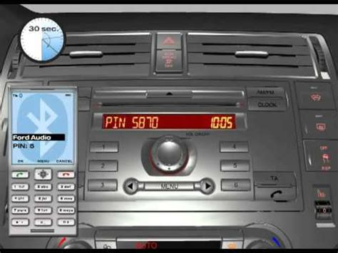 Ford 6000CD Mobile phone connection - YouTube
