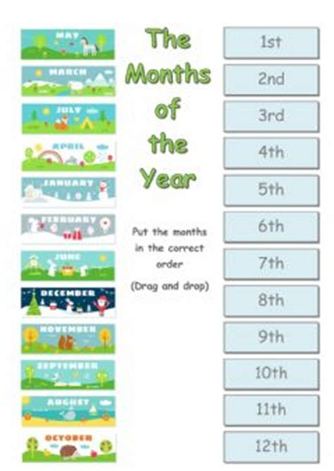 The months of the year Interactive worksheets